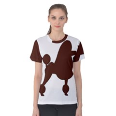 Poodle Brown Silo Women s Cotton Tee