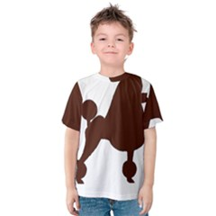 Poodle Brown Silo Kids  Cotton Tee