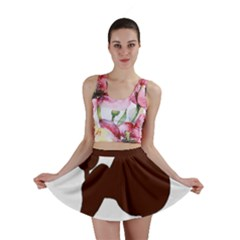 Poodle Brown Silo Mini Skirt