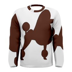 Poodle Brown Silo Men s Long Sleeve Tee