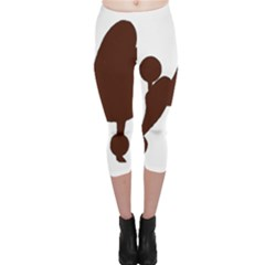 Poodle Brown Silo Capri Leggings