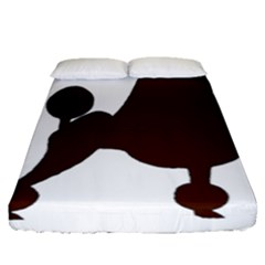 Poodle Brown Silo Fitted Sheet (Queen Size)
