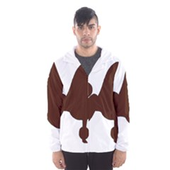Poodle Brown Silo Hooded Wind Breaker (Men)