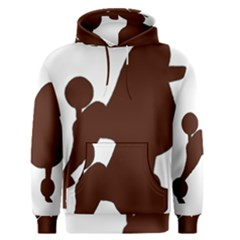Poodle Brown Silo Men s Pullover Hoodie