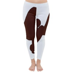 Poodle Brown Silo Classic Winter Leggings