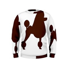 Poodle Brown Silo Kids  Sweatshirt