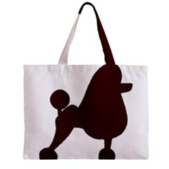 Poodle Brown Silo Zipper Mini Tote Bag