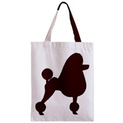 Poodle Brown Silo Zipper Classic Tote Bag
