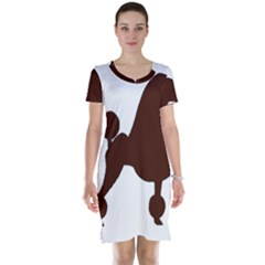 Poodle Brown Silo Short Sleeve Nightdress