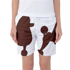Poodle Brown Silo Women s Basketball Shorts