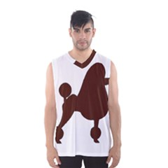 Poodle Brown Silo Men s Basketball Tank Top