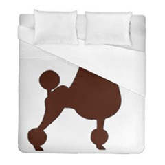 Poodle Brown Silo Duvet Cover (Full/ Double Size)