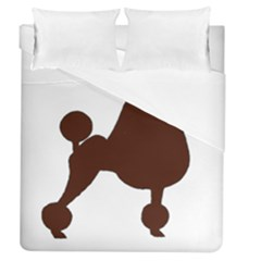 Poodle Brown Silo Duvet Cover (Queen Size)