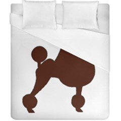 Poodle Brown Silo Duvet Cover (California King Size)
