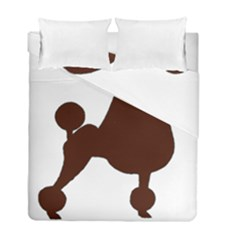 Poodle Brown Silo Duvet Cover Double Side (Full/ Double Size)