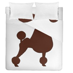 Poodle Brown Silo Duvet Cover Double Side (Queen Size)