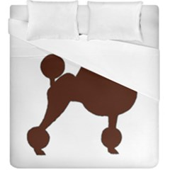 Poodle Brown Silo Duvet Cover Double Side (King Size)