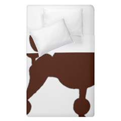 Poodle Brown Silo Duvet Cover Double Side (Single Size)