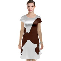 Poodle Brown Silo Cap Sleeve Nightdress