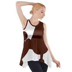 Poodle Brown Silo Side Drop Tank Tunic