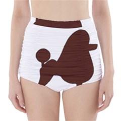 Poodle Brown Silo High-Waisted Bikini Bottoms