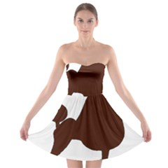 Poodle Brown Silo Strapless Bra Top Dress