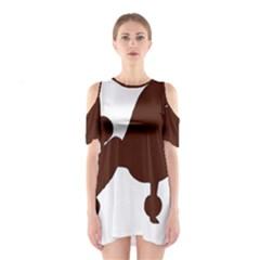 Poodle Brown Silo Shoulder Cutout One Piece