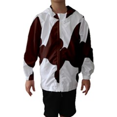 Poodle Brown Silo Hooded Wind Breaker (Kids)