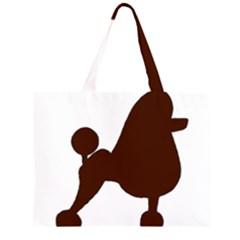 Poodle Brown Silo Large Tote Bag