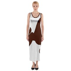 Poodle Brown Silo Fitted Maxi Dress