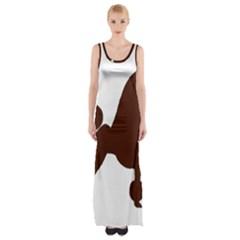 Poodle Brown Silo Maxi Thigh Split Dress