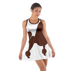 Poodle Brown Silo Cotton Racerback Dress