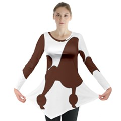 Poodle Brown Silo Long Sleeve Tunic