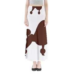 Poodle Brown Silo Maxi Skirts
