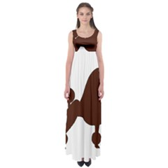 Poodle Brown Silo Empire Waist Maxi Dress