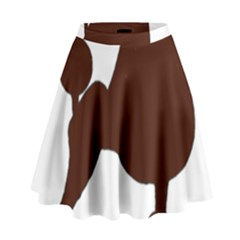 Poodle Brown Silo High Waist Skirt