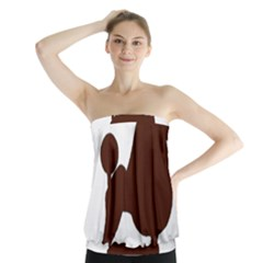 Poodle Brown Silo Strapless Top