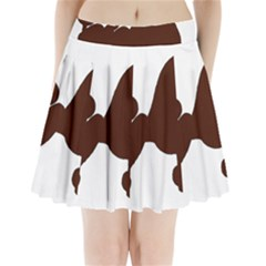 Poodle Brown Silo Pleated Mini Skirt
