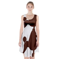 Poodle Brown Silo Racerback Midi Dress