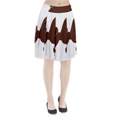Poodle Brown Silo Pleated Skirt