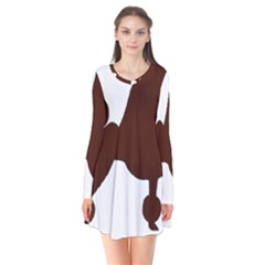 Poodle Brown Silo Flare Dress