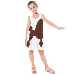 Poodle Brown Silo Kids  Sleeveless Dress