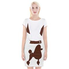 Poodle Brown Silo Suspender Skirt