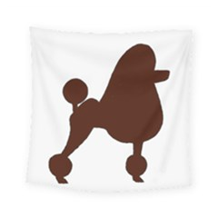 Poodle Brown Silo Square Tapestry (Small)