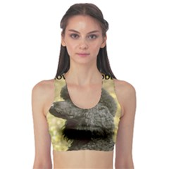Poodle Love W Pic Black Sports Bra