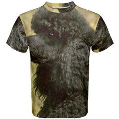 Poodle Love W Pic Black Men s Cotton Tee