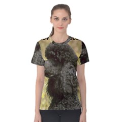 Poodle Love W Pic Black Women s Cotton Tee
