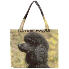 Poodle Love W Pic Black Mini Tote Bag