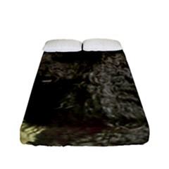 Poodle Love W Pic Black Fitted Sheet (Full/ Double Size)