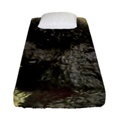 Poodle Love W Pic Black Fitted Sheet (Single Size)